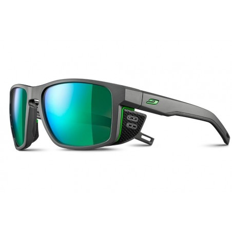 Julbo Shield Sonnenbrille - Grau/Grün - J5061120 - mit Spectron 3 Green Polarized Glas Kat. 3