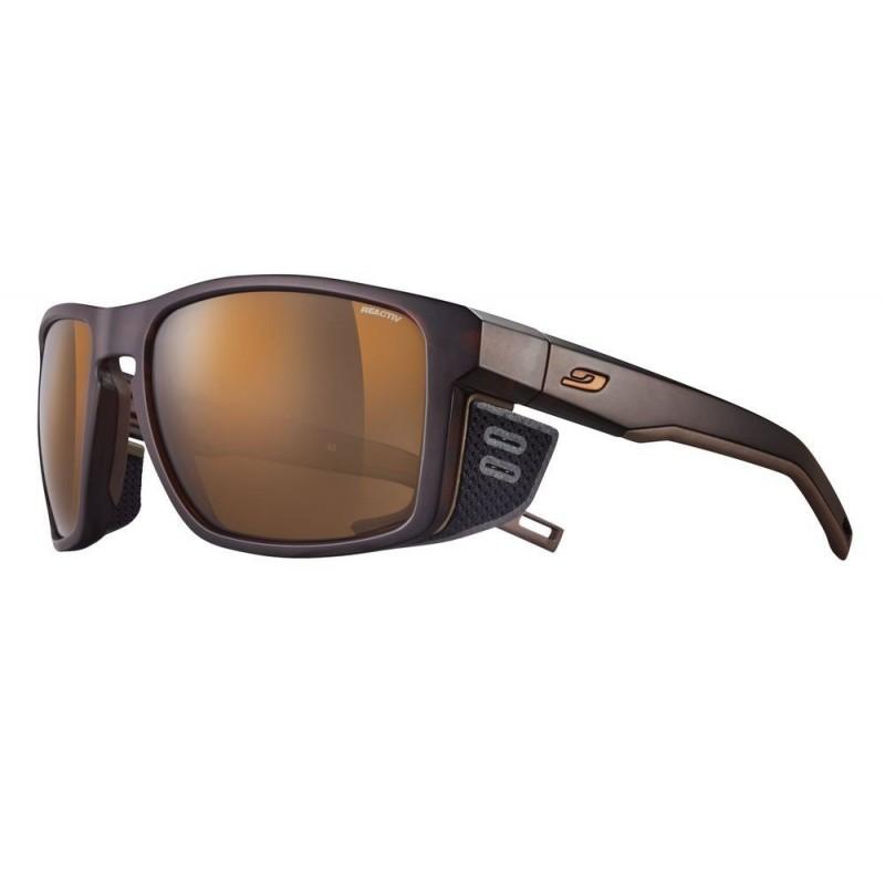 Julbo Shield Sonnenbrille - Braun/Schwarz - J5065051 - mit Reactiv High Mountain Glas Kat. 2-4