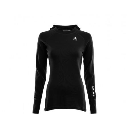Aclima Warmwool Hooded Sweater Woman Black