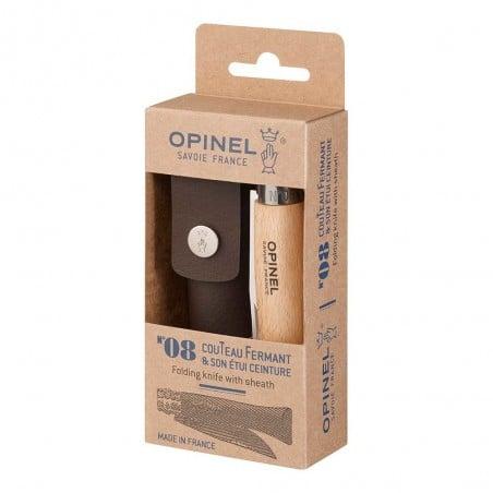Opinel Taschenmesser mit Etui rostfrei