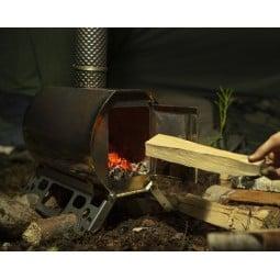 Savotta Hawu WS-400 Holzofen bietet eine große Feuerluke