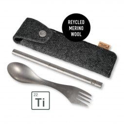 Light My Fire Spork'n Straw Kit Titanium