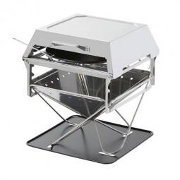 Snow Peak Field Oven - portabler Ofen für die Verwendung mit dem Snow Peak Fire Place in L (nicht im Lieferumfang enthalten)