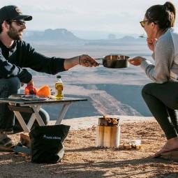 Solo Stove Campfire Holzofen & 2 Pot Set Combo mit Pfanne