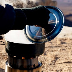 Solo Stove Campfire Holzofen & 2 Pot Set Combo mit passenden Deckeln