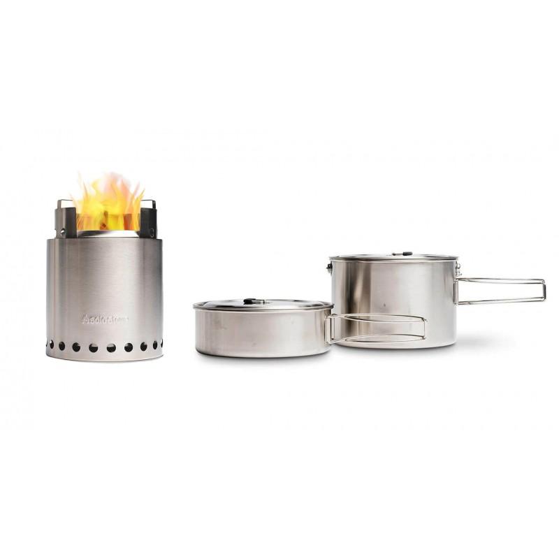 Solo Stove Campfire Holzofen & 2 Pot Set Combo