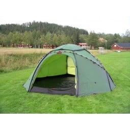 Hilleberg Atlas Basic Zelt Grün mit separat erhältlichem Innenzelt aufgebaut