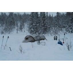 Hilleberg Kaitum 2 Zelt im Schnee-Einsatz