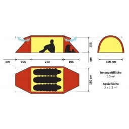 Hilleberg Keron 3 Zelt Abmessungen