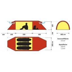 Hilleberg Keron 3 GT Zelt Abmessungen