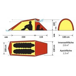 Hilleberg Nallo 2 Zelt Abmessungen