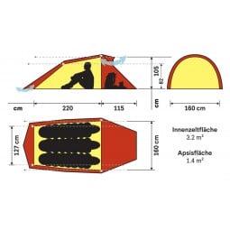 Hilleberg Nallo 3 Zelt Abmessungen