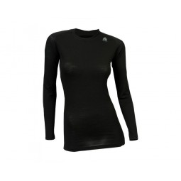 Aclima Lightwool Crew Neck Woman Schwarz Front