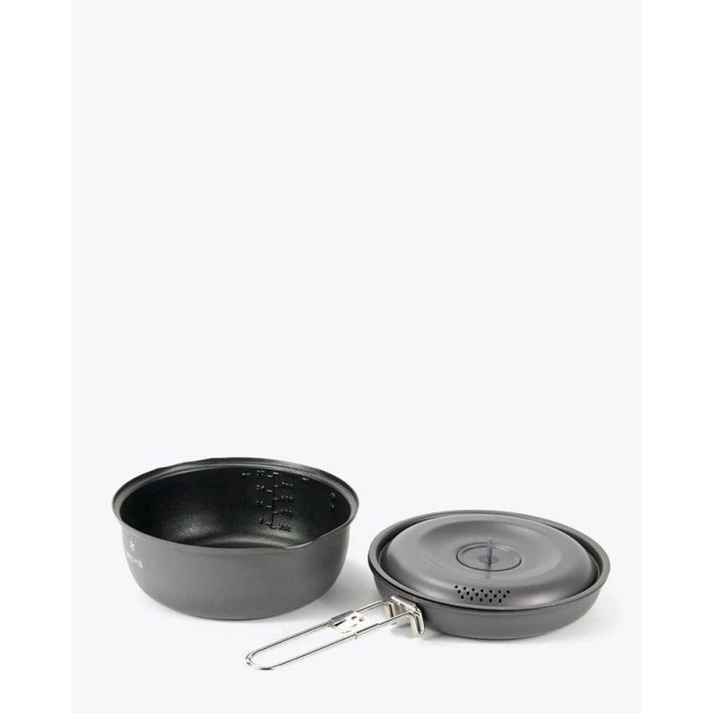 Aluminium Nonstick Cooker 1000 beide Komponenten nebeneinander