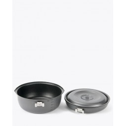 Aluminium Nonstick Cooker 1500 mit Deckel für Topf und Pfanne