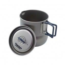 Evernew Titanium Tea Pot 500 mit Deckel daneben