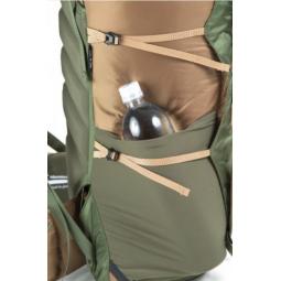Seitentaschen mit Kompressionsriemen am Perimeter 35 Rucksack