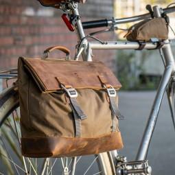 Pedalist Gepäckträger Tasche im Einsatz am Rad