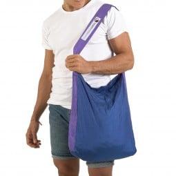 Ticket To The Moon Upcycling Eco Bag Medium Blau/Lila