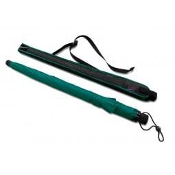 Euroschirm Swing Liteflex Regenschirm grün mit Hülle daneben