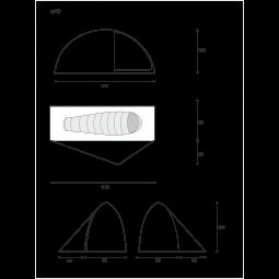 Lightwave S10 Sigma Einwandzelt - Abmessungen