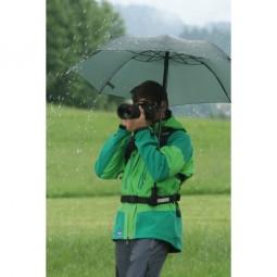 teleScope Handsfree Regenschirm hält die Hände fürs Fotografieren frei
