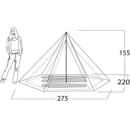 Nigor WickiUp 3 SUL Komplett-Zelt Abmessungen