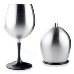 GSI Rotweinglas Edelstahl