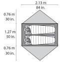 MSR Elixir 2 Abmessungen Liegefläche