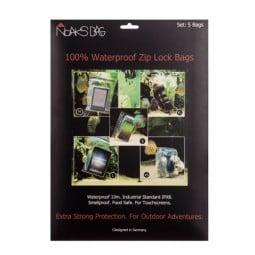 Noaks Wasserdichte Beutel 5er-Set Verpackung mit Beispielen zur Anwendung