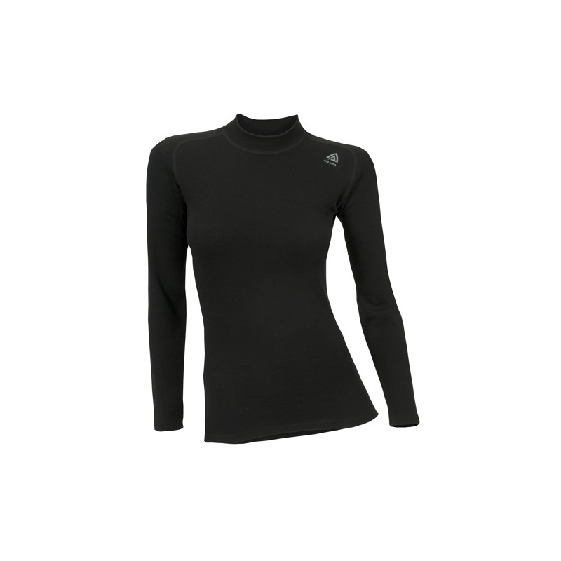 Aclima Warmwool Shirt Crew Neck Damen Schwarz