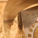 Clikstand Windscreen Detailbild Halterung am S-2 Kocherstand