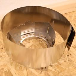 Clikstand Windscreen S-2 komplette Ansicht Aufbau mit Kocherstand