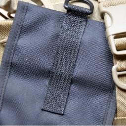 Bushcraft Essentials Outdoortasche Bushbox Rückseite mit D-Ring zur Befestigung