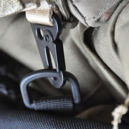 Bushcraft Essentials Outdoortasche D-Ring an Karabiner
