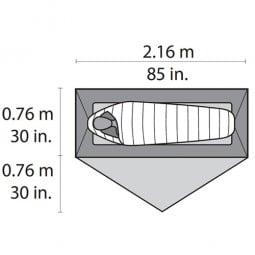 MSR Hubba NX Zelt Abmessungen Liegefläche