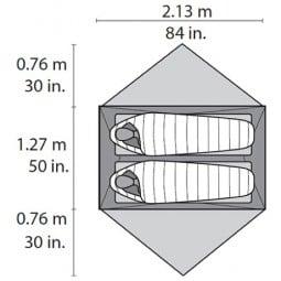 MSR Hubba Hubba NX Zelt Abmessungen Grundfläche