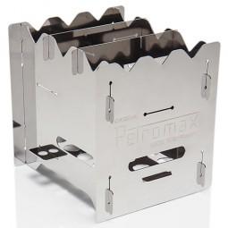 Petromax bk1 Hobo Kocher mit Rost unten aufgebaut