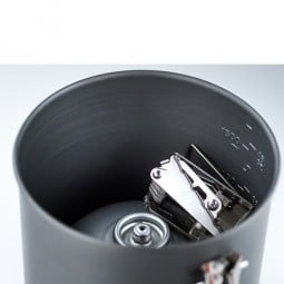 GSI Halulite Boiler 1.8 L mit Stauraum innen für Kartusche, Kocher, etc.