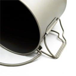 Toaks Titanium 750ml Pot mit Klappgriffen und Henkel, die leicht zu entfernen sind, werden sie mal nicht benötigt