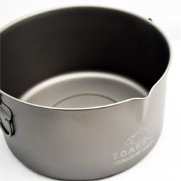 Toaks Titanium 2000ml Pot mit Henkel und Ausguss