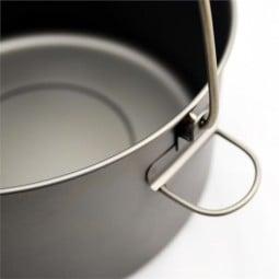 Toaks Titanium 2000ml Pot Detailansicht Henkel