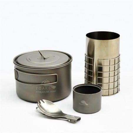 Toaks Ultralight Titanium Cook System CS03 einzelne Komponenten