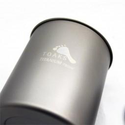 Toaks Titanium 750 ml Pot ohne Griff Nahaufnahme Topf