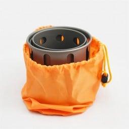 Toaks Titanium Backpacking Wood Burning Stove (Small) im Packsack