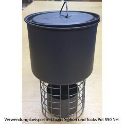 Toaks Topfstand für Spiritusbrenner - im Einsatz mit Toaks POT-550-NH und Toaks STV-01
