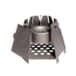 Vargo Converter Stove Beispiel in Hexagon Holzofen eingesetzt
