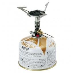 Soto Micro Regulator Gaskocher aufgeschraubt auf Kartusche