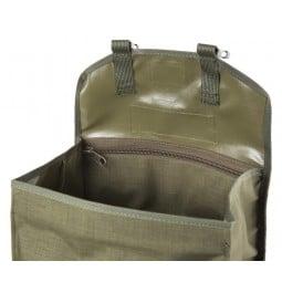 Savotta Jäger Mini Rucksack grün Detailansicht offener Deckel