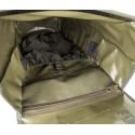 Savotta Jäger Mini Rucksack Blick ins Hauptfach mit kleineren Innenfächern